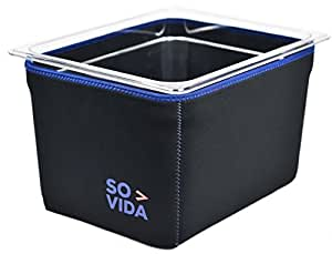 SO-VIDA Sous Vide Container Sleeve For The Lipavi CL10 / EVERIE EVC-12 Quart/WyzerPro - Protects Your Work Surfaces and Saves You Electricity From Increased Insulation