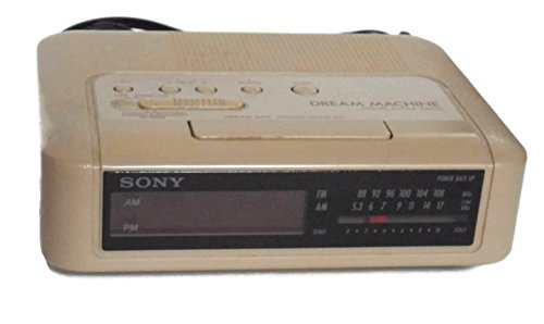 Sony Dream Machine Icf-c240 Digital Alarm Clock Radio Vintage 1980's Am/fm Beige