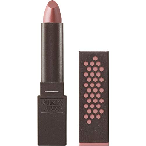 Burts Bees 100% Natural Glossy Lipstick, Nude Mist, 1 Tube, 3.4g