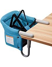 VEEYOO Hook On High Chair - Compact Fold Clip On High Chair for Baby Toddler, Portable Baby High Chairs for Travel or Restaurants