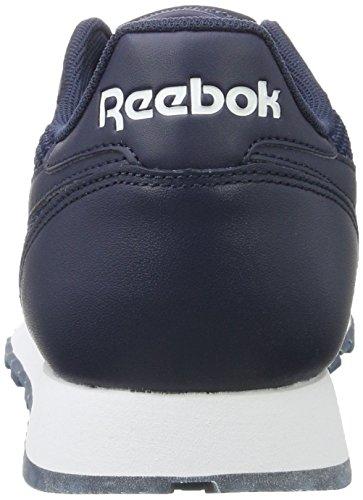 Coll Unisexe Reebok En marine Erwachsene Blau Classique Baskets Cuir TwH1q