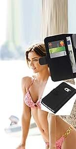 JackGot ( Miranda Kerr ) Samsung Galaxy S6 EDGE (NOT S6) la tarjeta de Crédito Slots PU Funda de cuero Monedero caso cubierta de piel