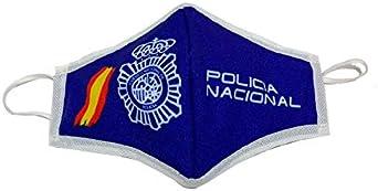 ZiNGS Mascarilla homologada 3 capas Policia Nacional Fabricada en España: Amazon.es: Ropa y accesorios