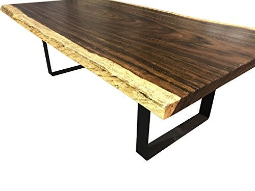 Live edge dining table, Live edge with steel flat legs