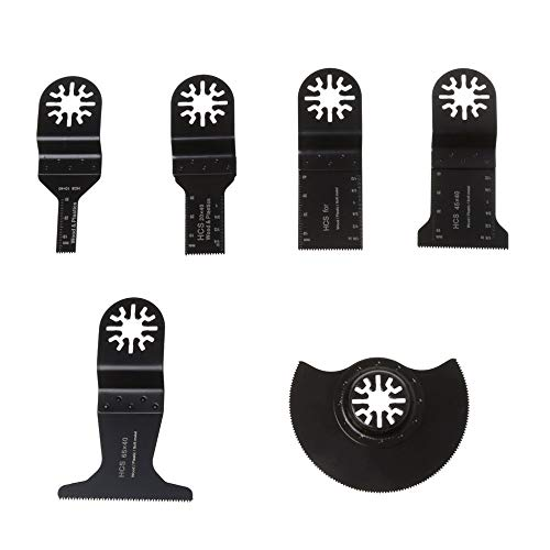 FITIONS - 6PCS Saw Blades Oscillating Multi Tool Accessories Kit For FEIN BOSCH