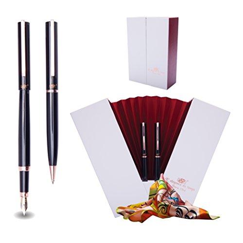 DP Gift Set Fountain Pen and Ballpoint Pen + Silk Scarf + Elegant Pen Holder – Le - Pen Collection Ball