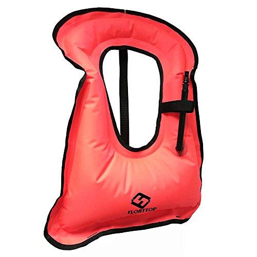 FLOATTOP Children Portable Snorkel Inflatable Life Jacket...