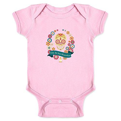 Dia de Los Muertos Sugar Skull Pink 6M Infant Bodysuit