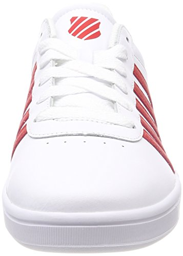 K-Swiss Court Cheswick, Baskets Homme Blanc (White/Red 164)