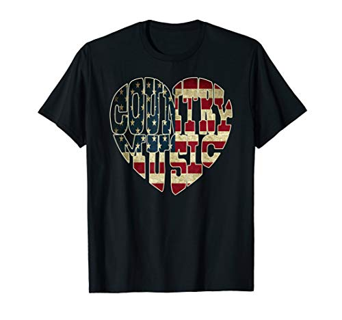 I Love America Country Music Patriotic Shirt USA Flag T-Shirt