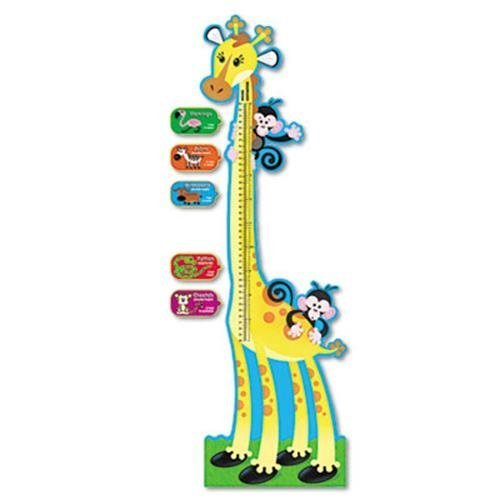 Trend Giraffe Growth Chart Bulletin Board Set (T8176) by Trend