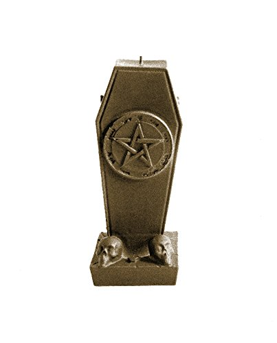 Candellana Candles 5902841366626 Gothic Coffin with Pentagram Brass