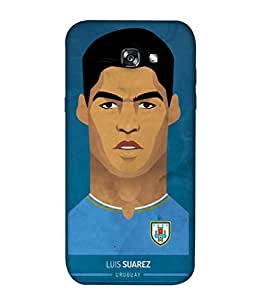 ColorKing Football Suarez Uruguay 01 White shell case cover for Samsung A5 2017