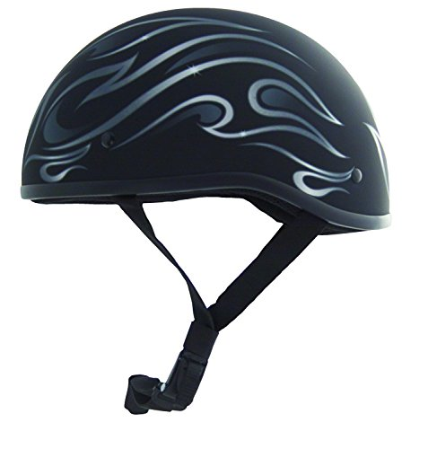 (ZOX Helmets ZOX MIKRO OLD SCHOOL FLAME MATTE BLK XL 88-00725 )