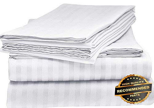 Sandover 6 Piece Bed Sheet Set Solid Color Deep Pocket Hotel Quality 2100 Count| Size King | Style ()