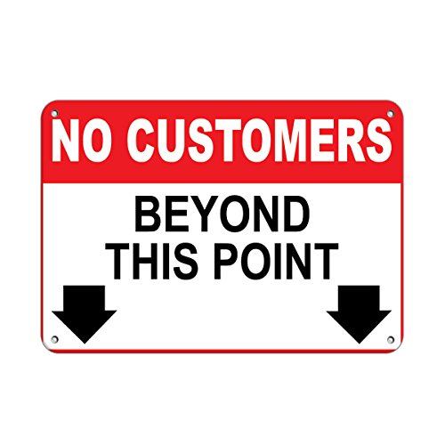 - No customers Beyond This Point Business Sign Store Policy Vinyl Sticker Decal 8