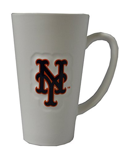 Boelter New York Mets 16 oz White Ceramic Latte Coffee Mug