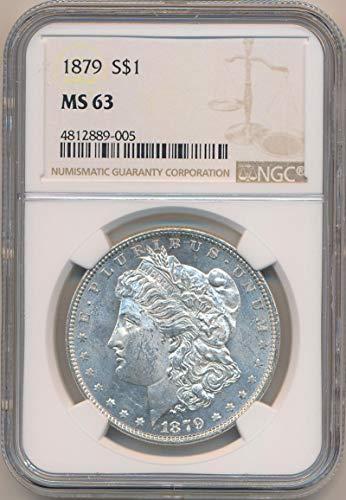 1879 P Morgan Dollar Dollar MS63 NGC