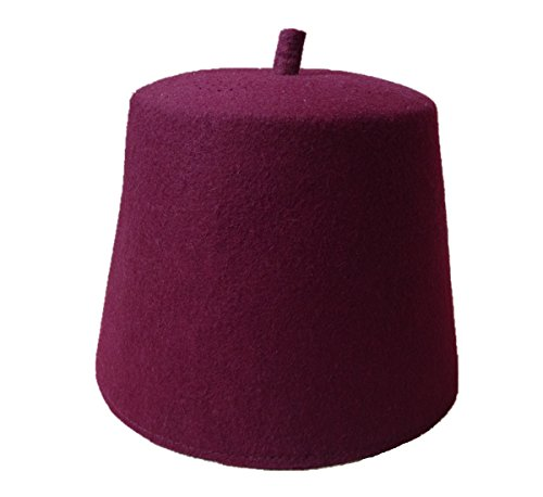 Inzoey Wool Felt Moroccan Turkish Hats Prayer Style