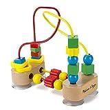 Melissa & Doug Primer laberinto con cuentas, juguetes de desarrollo, juego educativo de madera, confección de calidad y construcción robusta, 19.685 cm alto x 9.525 cm ancho x 17.78 cm largo