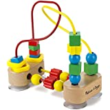 "Melissa & Doug First Bead Maze, Developmental Toys, Wooden Educational Toy, Quality Craftsmanship & Sturdy Construction, 7.75"" H x 3.75"" W x 7"" L"