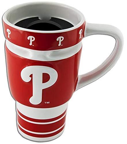 MLB Philadelphia Phillies Boelter 16 Ounce Sculpted Travel Mug