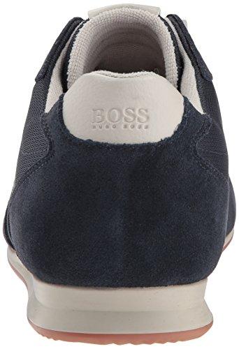 Men's Boss Hugo Suede Low Dark Orlando Blue Sneaker wpCC16q5