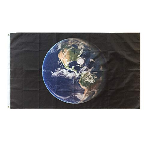Lixure Earth Flag Earth Day Flag Planet Earth 3x5 Foot-Banner Flags with Brass Grommets
