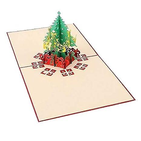 EisEyen - Árbol de Navidad Pop-up para Navidad, Tarjeta de ...