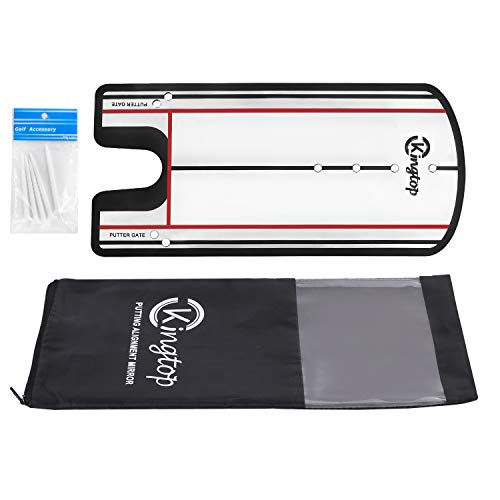 KINGTOP Golf Putting Alignment Mirror, Portable Swing Training Aids, Practice Putting Alignment Aid, Travel Size 12