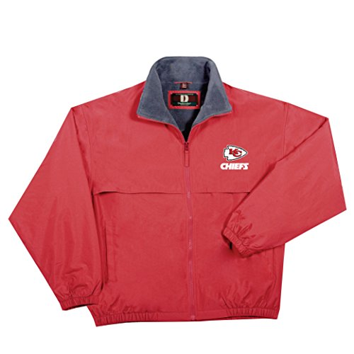 (NFL Kansas City Chiefs  Triumph Fleece Lined Mid Weight Jacket, Large, Red)