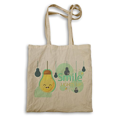 Smile Happy Day Positive Vibes Gift Tote Bag E940r