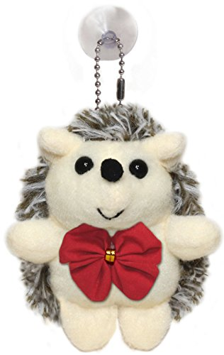 Lucore Christmas Hedgehog Plush Stuffed Animal Keychain with Red Bow - 4