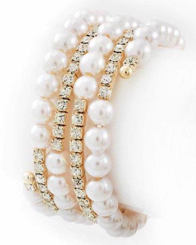 Spiral Pearl Bracelet (Pearl Spiral Bracelet)