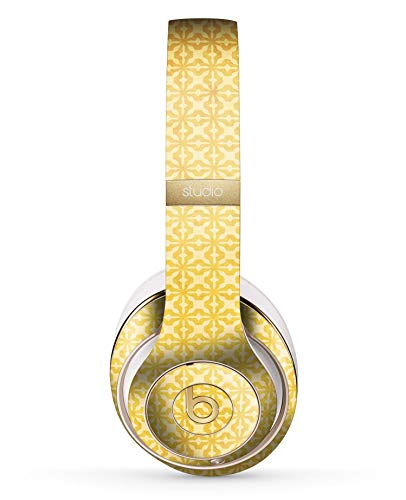 Pattern Yellow Cross (Mustard Yellow Cross Pattern Design Skinz Full-Body Premium Authentic Skin Kit for The Beats by Dre Studio 2 or 3 Remastered Wireless Headphones Ultra-Thin Protective Decal Wrap)