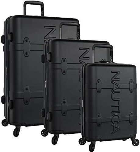 Nautica NAUBM Luggage, Black Navy, 3 Piece Set