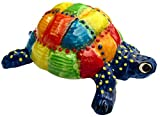 Cactus Canyon Ceramics Mr. Patch Turtle - Ceramic Turtle Hand Painted In Spain