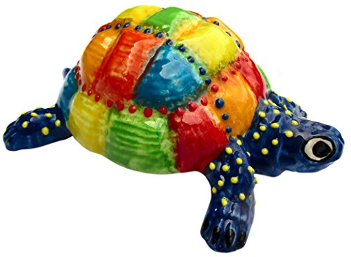 Cactus Canyon Ceramics Mr. Patch Turtle - Ceramic Turtle Hand Painted In Spain by Cactus Canyon Ceramics