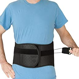 LSO Lumbar Back Brace with Pulley System Spine Compression (MEDIUM)