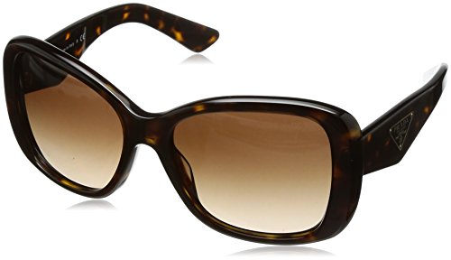 Prada PR32PS Sunglasses 2AU6S1-57 - Havana Frame, Brown Gradient - Prada Sunglasses Rectangular