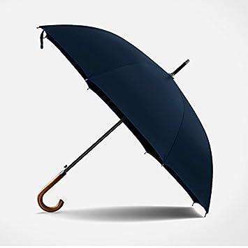 FYios Paraguas Aumentar el Fuerte Viento Largo Mango Hombre de Negocios,Sombrilla Navy Blue