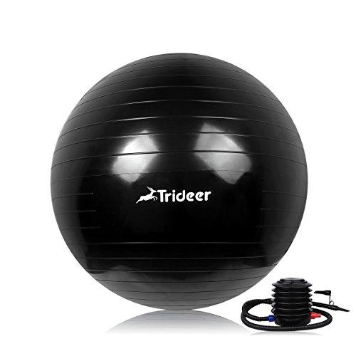 Trideer Exercise Ball, Yoga Ball, Birthing Ball with Quick Pump, Anti-Burst &...