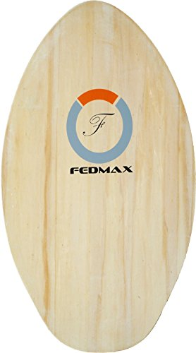 "Fedmax Skimboard with High Gloss Coat | Natural, 30"" (Up to 120bs.) 