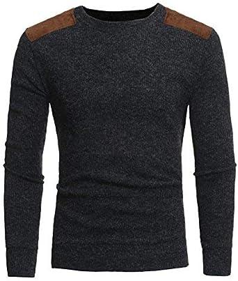 Camisa De Hombre New Spring para O Casual De Camisa Hombre Rayas Camisa Joven De Cuello Pullover Slim Fit Suéter De Punto Suéter De Punto: Amazon.es: Ropa y accesorios