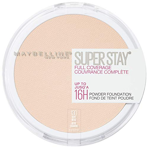 Maybelline New York Super Stay Full Coverage Powder Foundation Makeup (Best Full Coverage Mineral Foundation For Oily Skin)