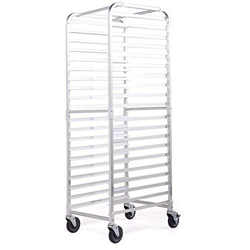 Sandinrayli Bakery Rack 20-Tier Commercial Kitchen Bun Pan Sheet Aluminum Pan - Bakery Rack