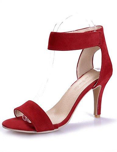 LFNLYX Chaussures Femme-Mariage / Habillé / Décontracté / Soirée & Evénement-Noir / Rouge-Talon Aiguille-Talons-Sandales-Laine synthétique , black , us8.5 / eu39 / uk6.5 / cn40