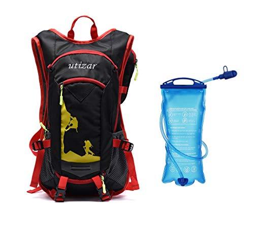 Utizar Light Durable softback Custom Hydration Pack Bike Bladder Backpack Cycling Backpack Running Camping Skiing Sport Water Bag (Red)