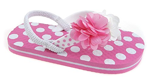 3d Flip Flop Sandal - AGI Toddler Beach Sandal Girls Flip Flop Little Girl Pink Shoe Size 5 6 7 8 9 10 (9/10, Pink Dot)