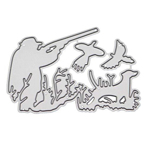 Hunting Metal Cutting Dies Stencil DIY Scrapbooking Album Stamp Paper Card Embossing Craft Decor